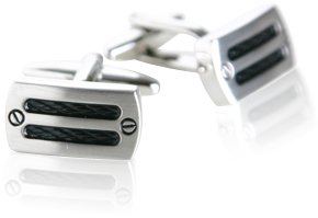 Industrial Silver-tone Cufflinks by Cuff-Daddy