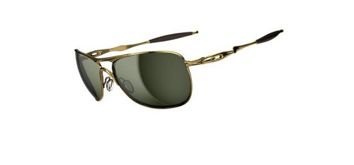 Oakley Herren Sonnenbrille Crosshair, polished gold/dark grey, OO4060-01