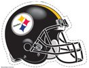 Pittsburgh Steelers Official Nfl 4.5 Inch X 6 Inch Car Window Cling Decal front-997695