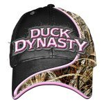Lowest Price! Duck Dynasty Swoosh Ladies Pink Logo Camo Black Hat Cap