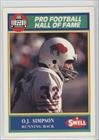 O.J. Simpson (Football Card) 1990 Swell Pro Football Hall of Fame #127 (Oj Simpson Football Card compare prices)