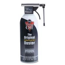 Falcon Products - Dust Off Plus Cleaner, 10 oz - Sold as 1 EA - Nonflammable Dust-Off Plus delivers a clean, triple-filtered blast of nontoxic gas that quickly removes dust, lint and other contaminants from computers, CRTs, disk and tape drives, diskettes, media storage files and general office equipment. The Vector Valve rotates 360 degrees with a 180-degree vertical orientation so you can direct spray in any direction. Great for hard to reach places. Unique nozzle allows you to keep duster upr