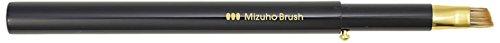 熊野筆 Mizuho Brush スライド式アイブロウブラシ 黒