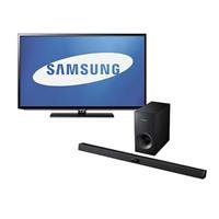 "Samsung 40"" Class Led Hdtv, 1080P Resolution, Bundle With Samsung Hw-F355 2.1 Channel Soundbar System With Subwoofer"