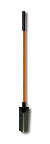 Nupla NC-SS14LPY Power Pylon Drain Spade with Heavy-Duty 14 Gauge Solid Back Blade and Butt Grip, 48