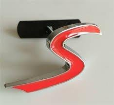 mini-cooper-s-griglia-logo-rosso