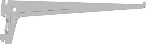 Element System PRO-Träger Regalträger 1-reihig, 2 Stück, 7 Abmessungen, 3 farben, lange 30 cm für Regalsystem, Wandschiene, weiß, 18133-00009