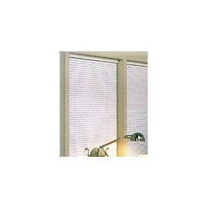 "NEW 1"" WHITE VINYL MINI BLIND - 35"" WIDE X 72"" LONG"
