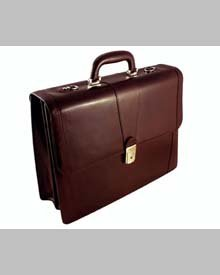 Bosca Old Leather Double Gusset Briefcase (Dark Brown)