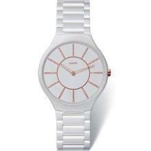 Rado True White Dial Ceramic Ladies Watch R27957102