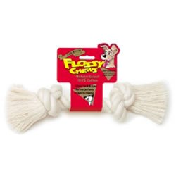 Mammoth Flossy White Chew Rope Bone Dog Toy