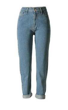 GA&GA Formato pišŽ BF Street style moda sciolto dritti pantaloni a vita alta , light blue , 29= domestic xl, foreign l