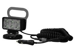 18 Watt Led Flood Light - Magnetic Base - 1400 Lumens - Six 3-Watt Leds - 10-32 Volt Dc - Ip67 Water