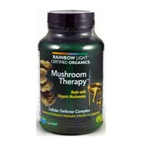 Rainbow Light Certified Organics Mushroom Therapy Vegetarian Capsule - 60 Per Pack -- 2 Packs Per Case.