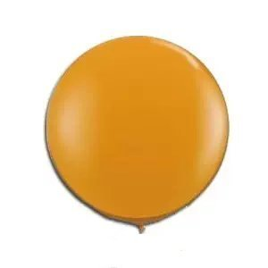 "Qualatex 36"" Round Latex Balloons (Mandarin Orange)"