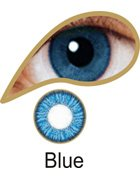 Coloured Contact Lenses with Free Solution and Case - Blue (3 Months)