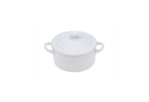 Le Creuset Stoneware Petite Round Casserole, 8-Ounce, White (Le Creuset Set Of Cookware compare prices)