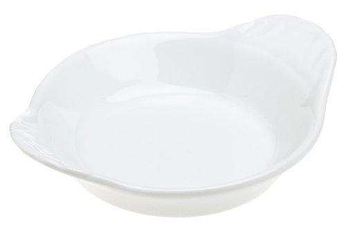 Pillivuyt Miniature 3 Inch Round Eared Dish, White