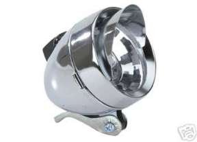 Bullet Headlight with Visor Chrome Bicycle Light