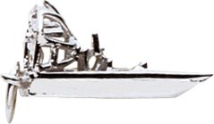 Rembrandt Charms Airboat Charm, Sterling Silver