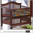 Sorelle Vista Convertible Crib with Toddler Rail, Espresso