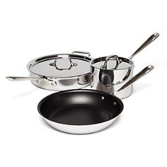 All-Clad 401488 NSR2-R Stainless Steel Tri-Ply Bonded PFOA Free Nonstick Cookware Set from Groupe SEB