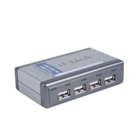 New D-Link Hub DUB-H4 4-Port 480Mbps USB2.0 W/RJ45 Retail Targeted At PC And Mac Users