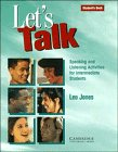 Let s Talk Level 2 Student s Book with Self study by Leo Jones