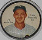 1962 Salada Tea Coins (Baseball) Card# 71 Luis Aparicio Of The Chicago White Sox Exmt Condition