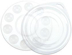 Loew-Cornell 10 Well Plastic Palette w/Lid 6 1/2