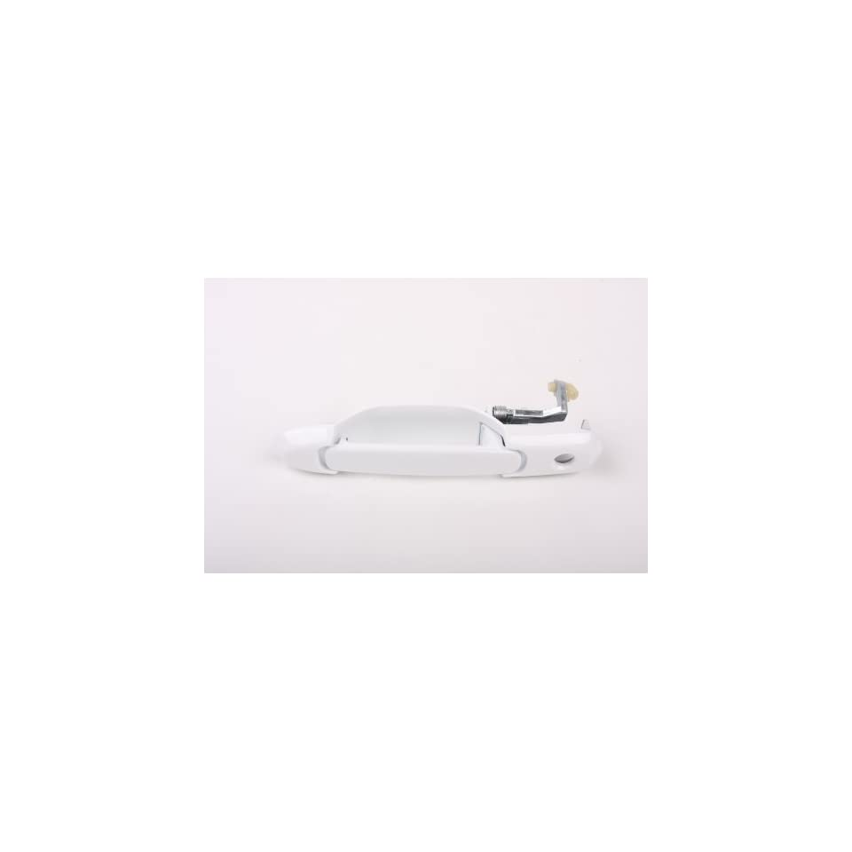 #B615 98 03 Motorking Toyota Sienna White 040 Replacement Driver Side Outside Door Handle With Keyhole 98 99 00 01 02 03