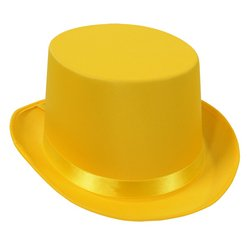 Satin Sleek Top Hat (yellow) Party Accessory  (1 count)