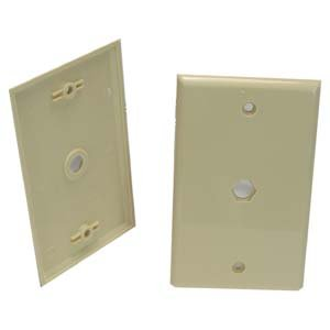 Blank Wall Plate for F Coupler Ivory