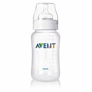 Avent Feeding Bottle with Variable Flow Nipple, 11oz 1 Ct (Quantity of 4)