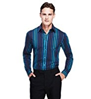 Autograph Luxury Pure Cotton Striped Shirt