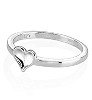 M&S Collection Finest Sterling Silver Heart Ring