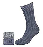 2 Pairs of North Coast Cotton Rich Slub Twisted Socks
