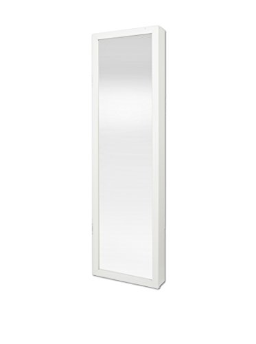 Plaza Astoria Wall/Door-Mount Jewelry Armoire, White