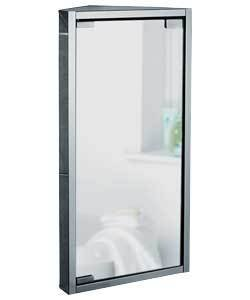 stainless steel small bathroom corner unit with mirror