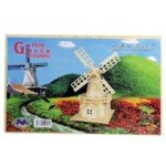 Exquisite Wooden Puzzle Toy Decoration For Children-Large Size/Dutch Windmill front-625019
