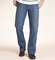 Shorter Length Straight Leg Stretch Denim Jeans