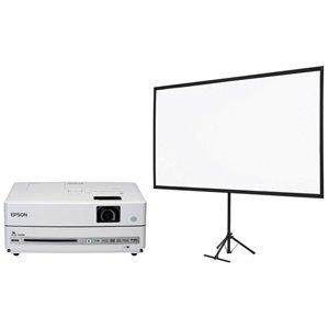 セイコーエプソン DVD・スピーカー一体型ホームプロジェクター/dreamio/EH-DM30+80型スクリーンセット EH-DM30S