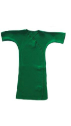Long Sleeve Solid Color Gown - Lots Of Colors! (Newborn 0-3 Months To 12 Pounds, Kelly Green)