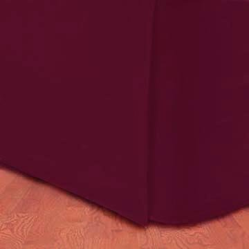300Tc Egyptian Cotton Twin Bed Skirt Solid Burgundy front-900622