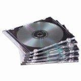 Americopy 100 SLIM Black CD Jewel Cases