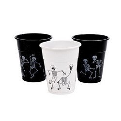 SKELETON PRINTED DISPOSABLE CUPS (50 PIECES) - BULK by FX