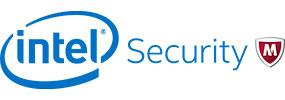 Logo: McAfee. Part of IntelSecurity