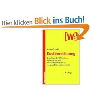 eBook Cover für  Kostenrechnung Grundlagen der Vollkosten Deckungsbeitrags und Plankostenrechnung sowie des Kostenmanagements