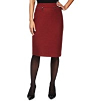 M&S Collection Knee Length Pencil Skirt with New Wool