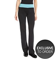 M&S Collection Active Performance Contrast Wide Waistband Straight Leg Joggers
